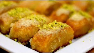 Turkish ٍSemolina Sweet (İrmikli ) حلى قطع السميد التركية بابسط طريقة