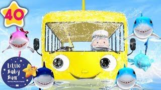 Wheels on The Bus Underwater   Underwater Bus   +More Nursery Rhymes & Kids Songs   Little Baby Bum