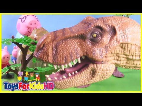 Peppa la cerdita - Videos de Peppa Pig en español y Videos de Dinosaurios para niños ToysForKidsHD