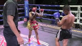 Pu (Pataknunglek Sinbimuaythai ) wins by K.O in Round 2 at Rawai Boxing Stadium