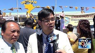 Lễ treo cờ phướn Việt Mỹ trên đại lộ Bolsa - Trần Hưng Đạo