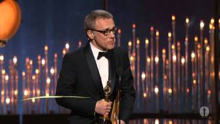 "Christoph Waltz winning Best Supporting Actor for ""Django Unchained"""
