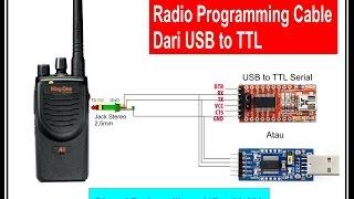 Membuat Kabel Data Radio Dari USB To TTL