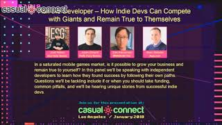 How Indie Devs Can Compete with Giants and Remain True to Themselves | PANEL