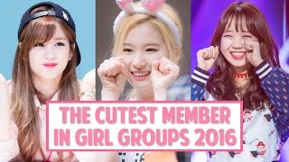[TOP 10] The Cutest Member in K-Pop Girl Groups 2016