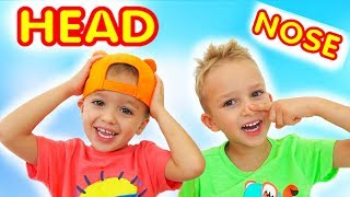 Head, Shoulders, Knees & Toes -  Exercise Song for Children from Vlad and Nikita