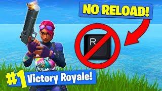 The *NO RELOAD* CHALLENGE In Fortnite Battle Royale!