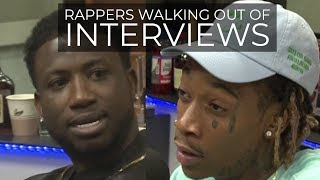 RAPPERS WALKING OUT OF INTERVIEWS