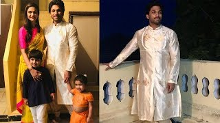 Allu Arjun Dussehra Celebrations With His Family | Allu Arjun Dussehra Celebrations