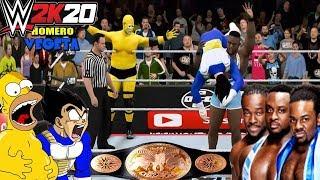 WWE 2K16: Homero y Vegeta VS New Day (WWE Champ Tag Team) - Feliz 14 de Febrero