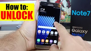 How To Unlock Samsung Galaxy Note 7 - ANY Carrier (AT&T, T-mobile, etc.) - Works 2016