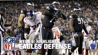 Eagles Defense Highlights (Week 6) | Giants vs. Eagles | NFL