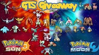 LIVE - Pokémon Sun & Moon GTS Giveaway - All Shiny Non-Mythical Legendary Pokémon!!! - ROUND 3