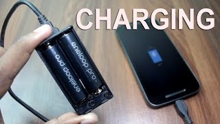 How to make an emergency cell phone charger | 2 AA batteries