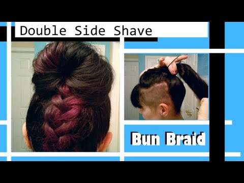 Xxx Mp4 Edgy Side Shave Hairstyle Tutorial DIY Bun Braid 3gp Sex