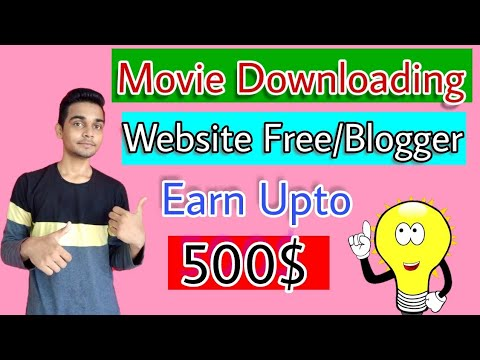How to make movie download website on blogger in Hindi - 200$ day - Free