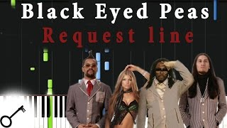 Black Eyed Peas - Request line [Piano Tutorial] Synthesia | passkeypiano
