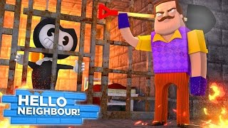 Minecraft HELLO NEIGHBOUR - THE NEIGHBOUR HAS BENDY & THE INK MACHINE IN HIS BASEMENT!!!!!