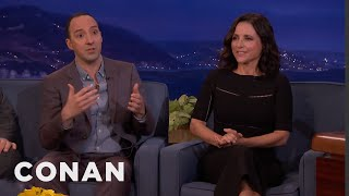 Julia Louis-Dreyfus & Tony Hale On Selina & Gary's Abusive Relationship  - CONAN on TBS