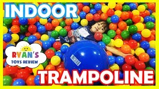 Giant Balls Pit Huge Indoor Playground Bounce House Kids Play Area Family Fun Play Center Trampoline