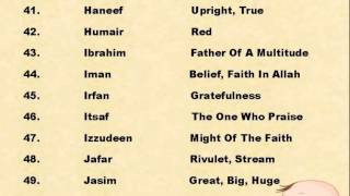Muslim Baby Boy Names With Meanings