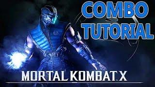 Mortal Kombat X SUBZERO Combos - CRYOMANCER  Combo Tutorial