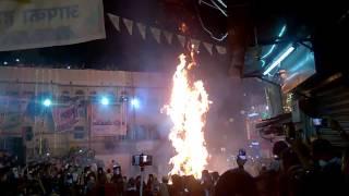 Holi Dhahan celebration at Jagdhish Chowk Udaipur Rajasthan 3
