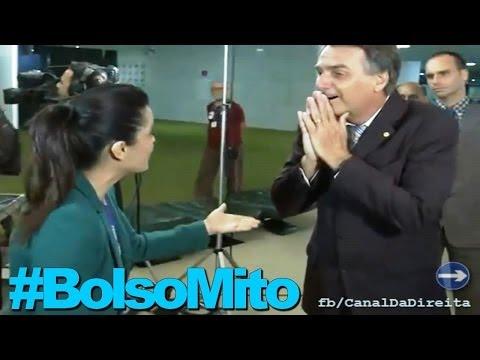 Repórter provoca Bolsonaro e depois se faz de vítima