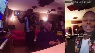 KC's Studio Session At Twenty96 Studios /w Kay-Oh - CAF TV @YungCaf