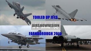 TOOLED UP F18 SUPER HORNET, TYPHOON & M346: FARNBOROUGH 2016 (airshowvision)