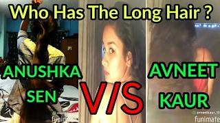 Anushka Sen V/S Avneet Kaur Long Hair Challenge    Bun Drop Chalhallenge Between Anushka and Avneet