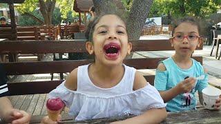 Çocuk Videoları.Sıla Ve Mira Dondurma Yedi.Eğlence Tv.