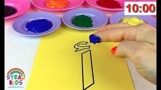 Finger Paint Arabic Letters Colors Numbers الحروف الابجدية العربية للاطفال