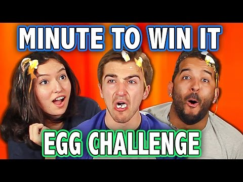 MINUTE TO WIN IT EGG ROULETTE CHALLENGE ft. Teens React Cast Challenge Chalice