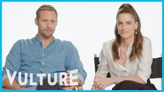 Amanda Peet and Alexander Skarsgard Swap Mortifying Soap-Opera Acting Stories