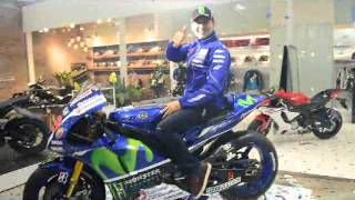 Jorge Lorenzo and his Yamaha YZR-M1 in New YZone Flagship Store