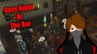 Let's Play The Sims 4 Get Famous EP55 Guys night at the bar