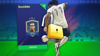 GETTING THE BEST PLAYER ON FIFA?!! UNLOCKING THE 94 RONALDINHO SBC!!!