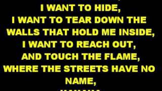 Where The Streets Have No Nameu2lyrics