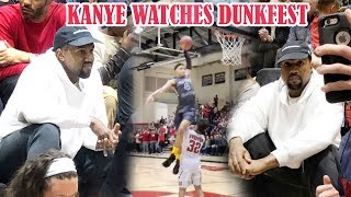 KANYE WEST AT A BASKETBALL GAME!? Yeezy Watches Scotty Pippen & KJ Martin POP OFF!