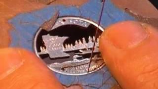 Hand cut coin - Minnesota 2 of 2
