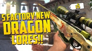 WINNING 5 FACTORY NEW  DRAGON LORES!! - CS GO Funny Moments Betting