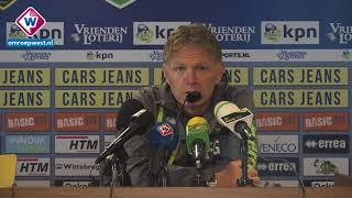 Persconferentie ADO-trainer Fons Groenendijk in aanloop naar AZ - ADO