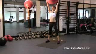 Swiss Ball Beginner Full Body Workout: Routine 2