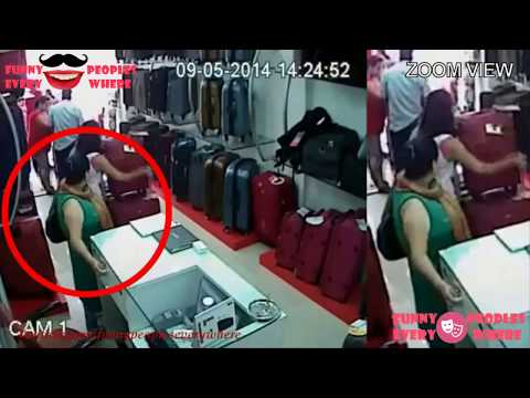 Best women stealing videos from all over the world CCTV 2016