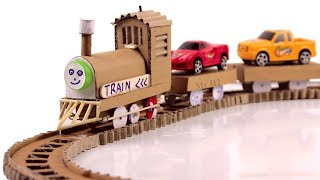 How to make an Electric Train at home - DIY Train From Cardboard and DC Motor [Mr H2]
