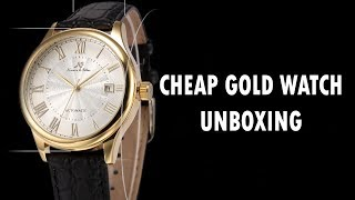 KS Automatic Mechanical Men's Watch Classic Minimalist Gold Rome Date Dial Unboxing