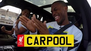 Hilarious LFC CARPOOL with Sturridge, Ox, Clyne and Gomez | KARAOKE and REAL TALK