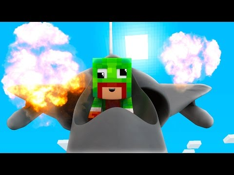 Minecraft WHO S YOUR DADDY BABY FLYS JET Baby Nukes World