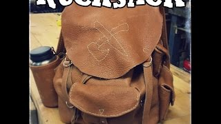 Leatherworking - Bison Hide Backpack Part 1: Partern and Cut Out